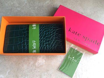 🚚 BNIB Kate Spade Long Wallet - Knightsbridge Stacy Dark Teal Seasonless