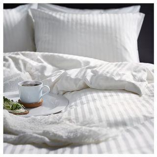 IKEA NATTJASMIN Quilt cover and 4 pillowcases, white, 240x220/50x80 cm