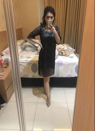 Aster Black Kaftan Tunic Dress