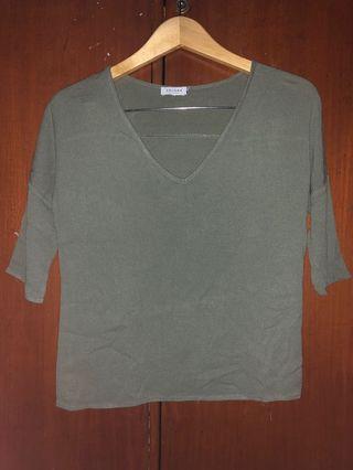 ZALORA army green blouse