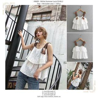 Top 49609 - White Summer Lace