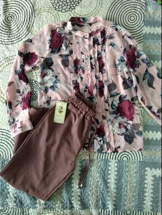 Blouse with Pants