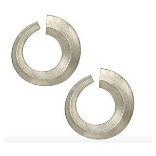 Silver Chunky Hoop Earring