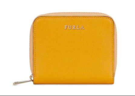 ❣️[LAST DEAL] Authentic Furla Wallet Babylon Small Zip Around- Yellow (ginestra)