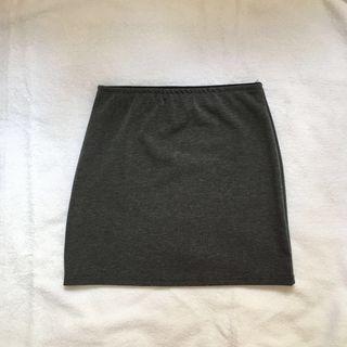 grey bandage skirt