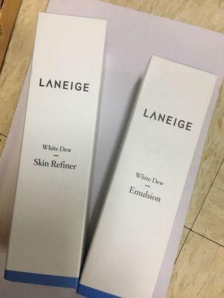 Laneige 水光亮白(水+乳)