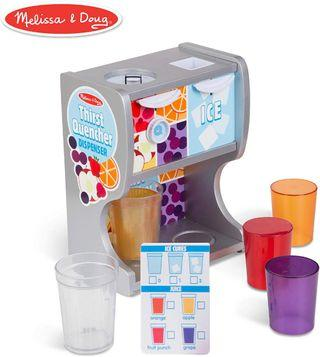 Melissa & Doug Thirst Quencher Wooden Water Dispenser Pretend Play Toy