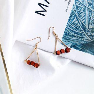 (Clip On/Hook) Vaner's Wooden Earrings In Brown