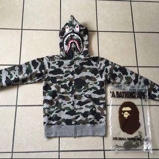 Bape PONR Camo Shark Jacket Grey L