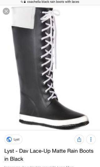 Coachella Dav Rain boots