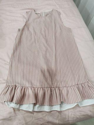 Preloved maternity dress - pink stripe