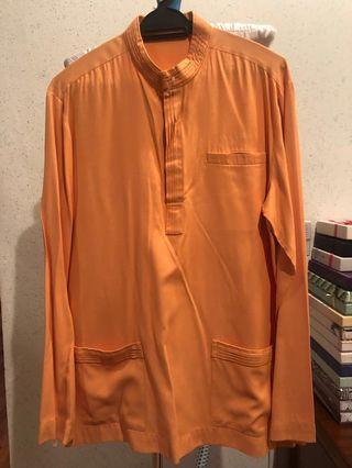 Jovian Baju Melayu Preloved in Orange
