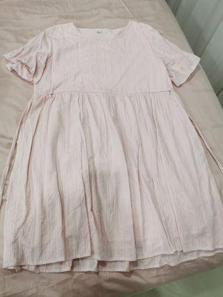 Preloved maternity pink dress