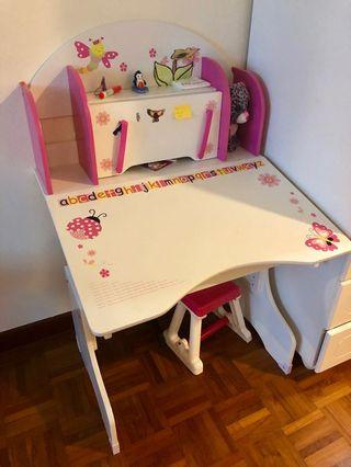 Cute children's desk and chair