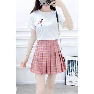 🚚 粉色百褶裙