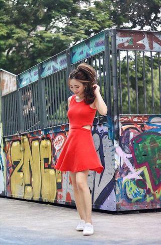 6ixty8ight Cut out Skater Dress