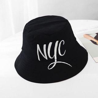 【個性英文繡字漁夫帽】