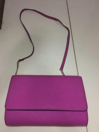 H&M pink clutch bag
