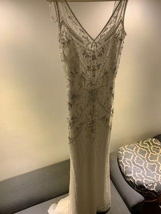Aire Barcelona Beaded wedding dress, pre wedding dress