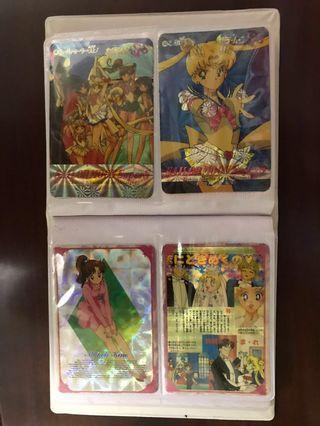 美少女戰士 sailor moon cards 珍藏卡 閃卡 白卡 膠卡 大量