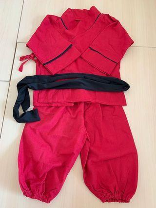 紅色 功夫衫 功夫套裝