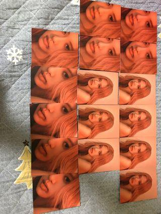 Rose ktl kill this love puzzle polariod photocard blackpink
