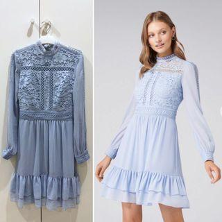 FOREVER NEW light blue lace dress