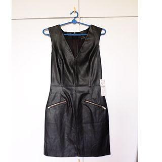 BNWT ZARA XS Sleeveless Dress, Pleather Dress, Sheath Dress