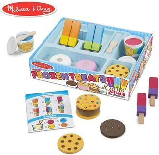 Melissa & Doug Frozen Treats Set, Pretend Play Food, Durable Wooden Construction and Helps Develop Skills, 24 Pieces
