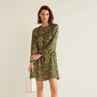 Mango Basics Floral Print Dress