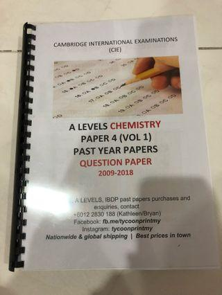 A Level Chemistry Paper 4 Past Year (2009-2013)