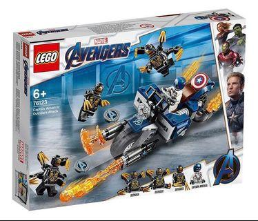 LEGO Marvel Avengers Captain America Outriders Attack (76123) (全新, 未開封)