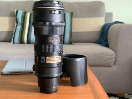 Nikon 70-200mm f2.8 VR I **Highly motivated seller**