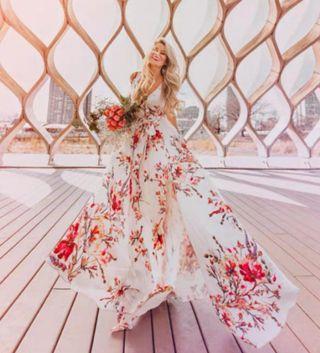 Floral dress long