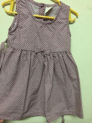Baby Dress-Tiny Button