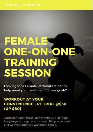 🚚 Female Personal Training (Solo/Group)
