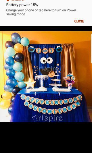 Cookie Monster Theme Party