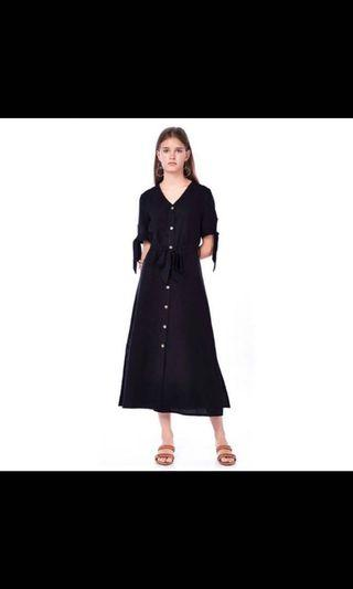 Editors Market black midi dress