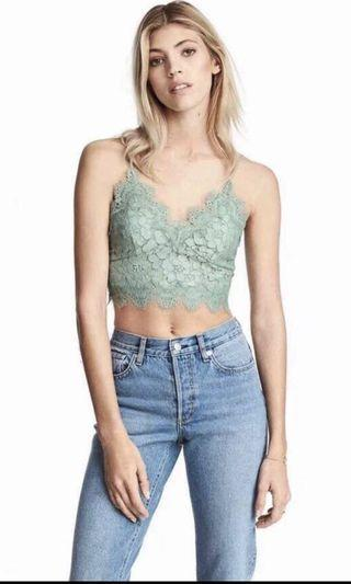 Crochet Top In Mint