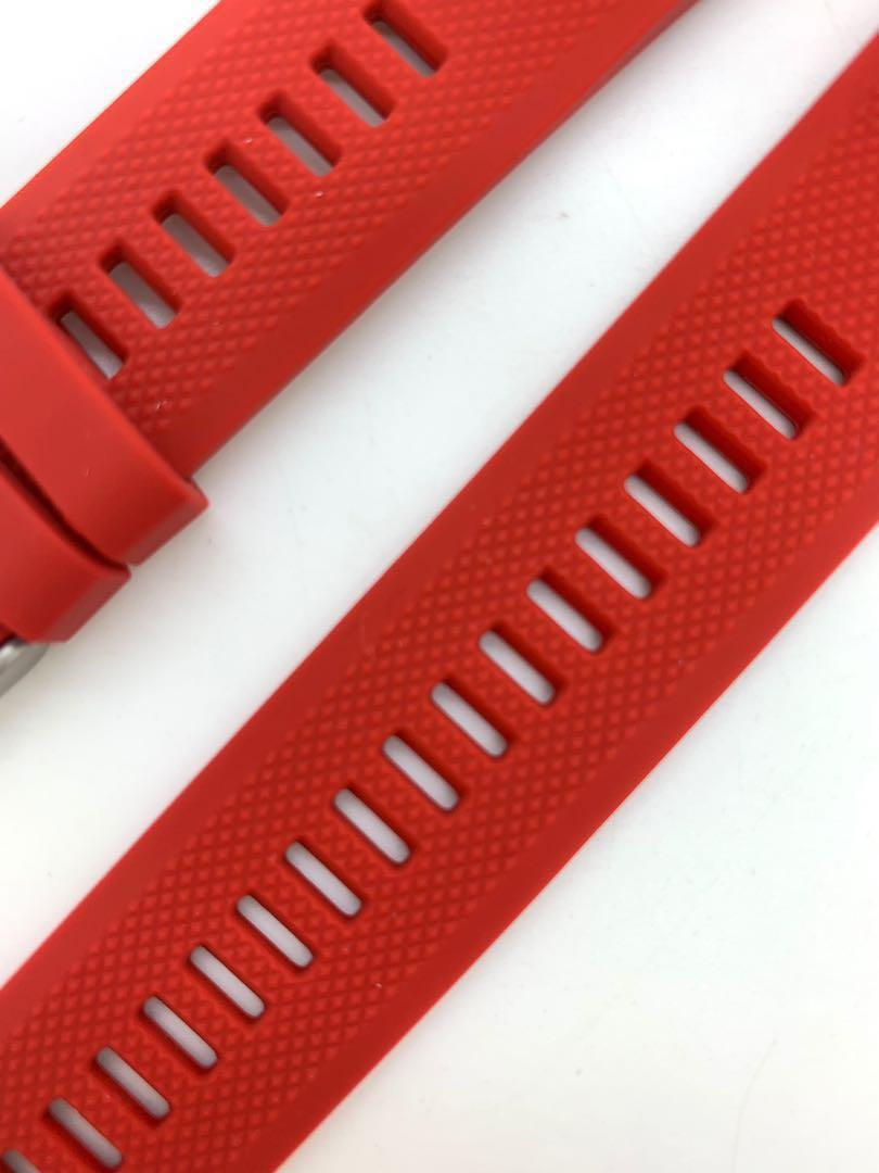 22mm Red Silicon Rubber Replacement Watchband Watch Strap with Quick Release / Fit for Garmin Fenix 5 GPS and forerunner 935 and other watches of 22mm lug width