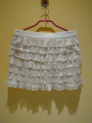 🚚 飄逸軟絲質短裙