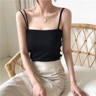 black knitted cami