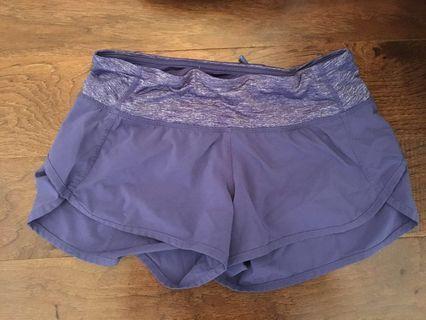 Purple lululemon athletic shorts size 2