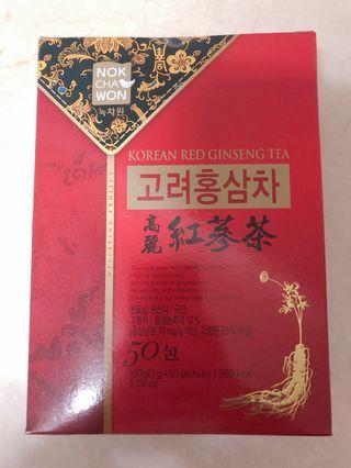韓國 高麗紅蔘茶 50包1盒 未拆封