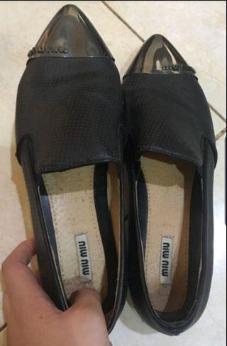 Miu Miu Slipon Black Shoes #mauTHR