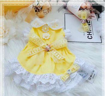 BN Sunshine Yellow Princess Lace Gown Dress for Pets Cats Dogs