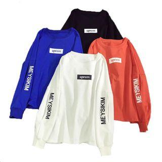 Long sleeved oversized top