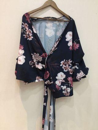 Floral Outer kimono style