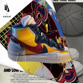 Sacai x Nike Mid