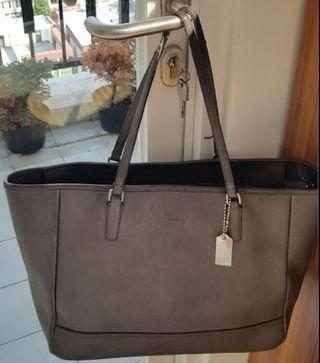 Coach Tote Bag Silver Authentic #mauTHR